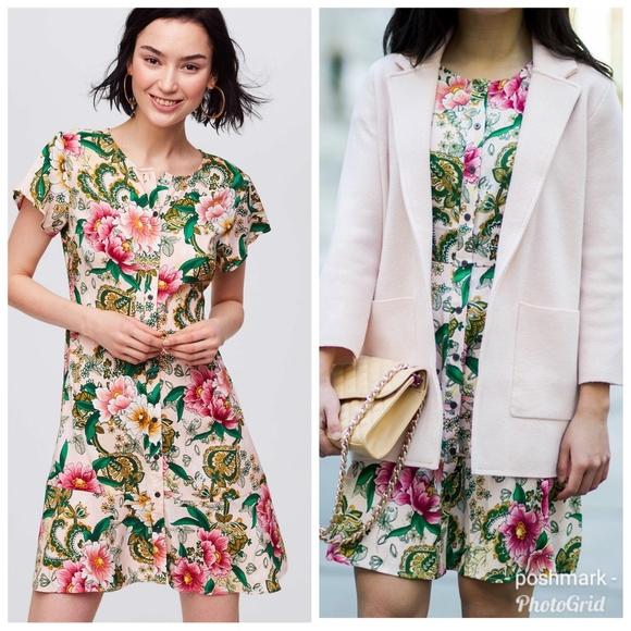 dc389c3ea895 LOFT Dresses | Womens Camellia Garden Shirtdress | Poshmark